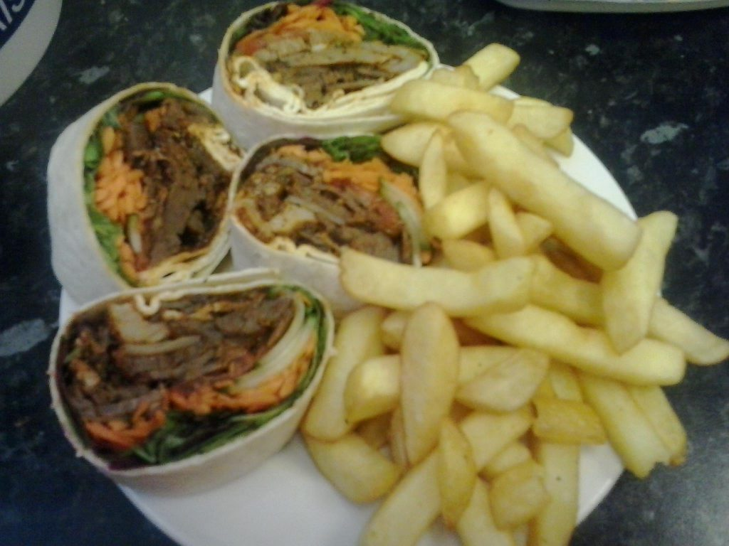 Cantonese Wraps and Chips from Top Nosh Congleton